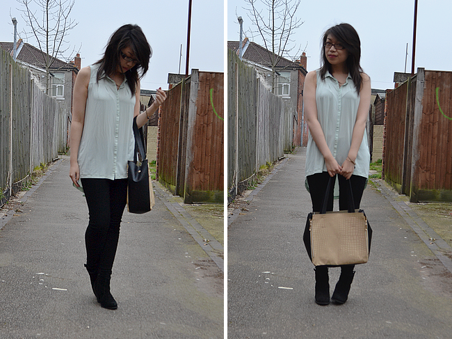 daisybutter - UK Style Blog: what i wore, zara, collar tips, SS12