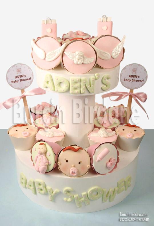 Baby shower cupcake standi