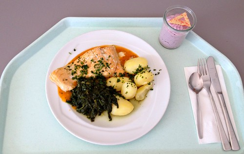 Lachs in Estragonsauce / Salmon in estragon sauce
