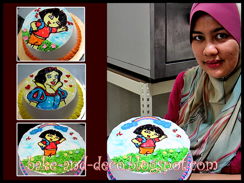 DRAWING ON BUTTERCREAM CAKE - 12 FEB 2012