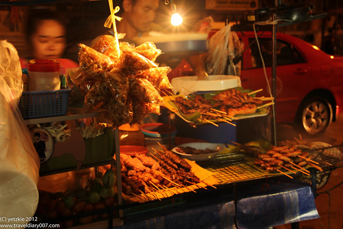 food street at Kao San road