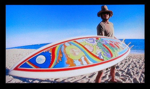 rainbow surfboard