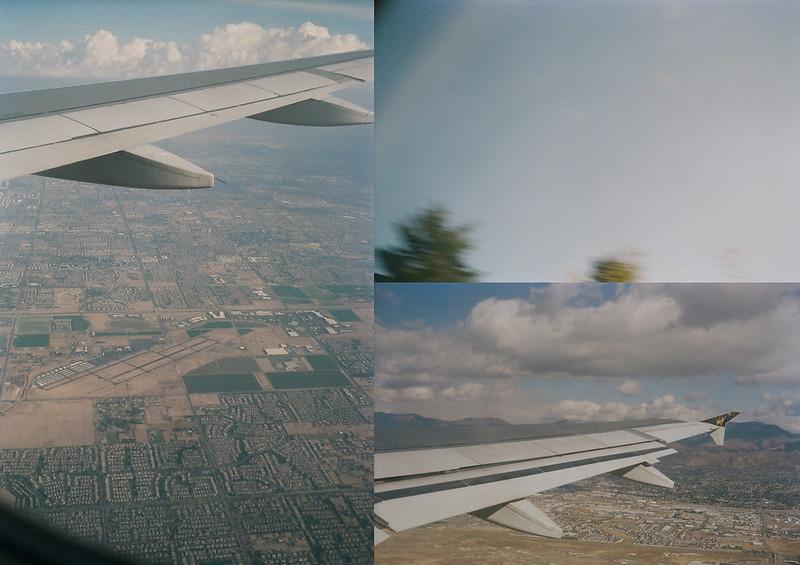 Utah trip film scans triptych