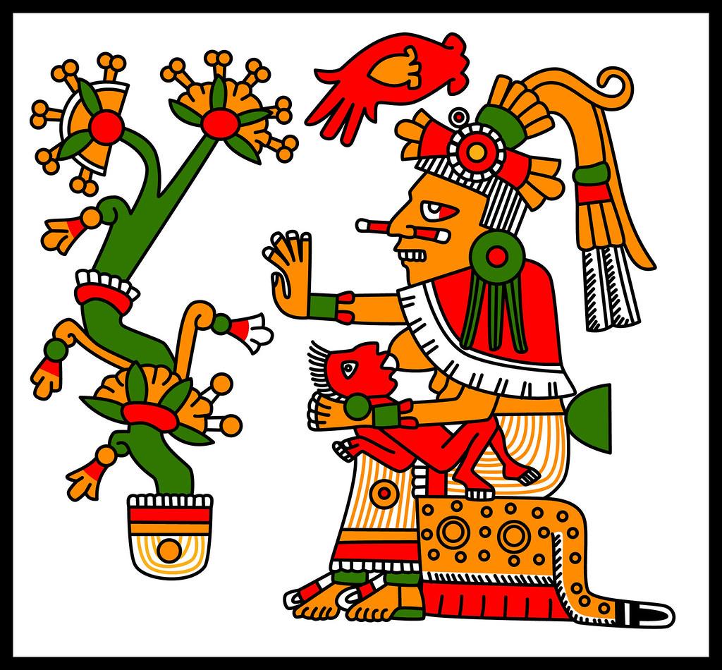 Xochiquetzal or Chalchiuhtlicue - Codex Fejervary Mayer 29Xochiquetzal Aztec God