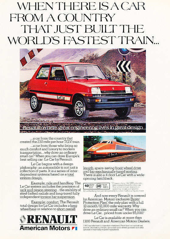 1982 Renault/AMC Le Car ad