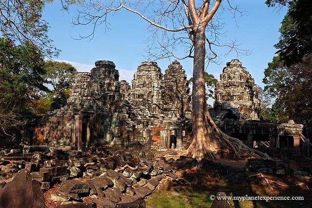 Entry towers at Prasat Banteay Kdei - Angkor, Cambodia