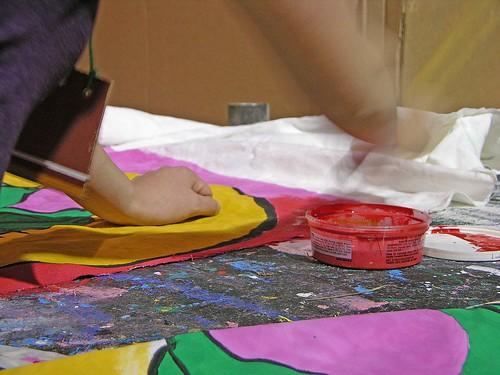 painting fabric MayDay 2012