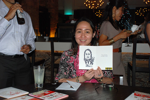 caricature live sketching for DVB Christmas party - 4