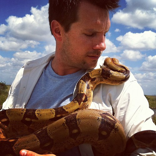 Rossi Morreale with Colombian Boa