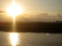 sunset at mont st michel
