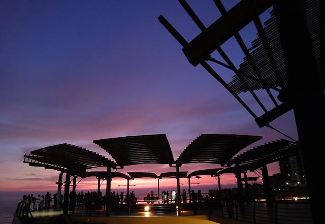 Por do sol em Lima - Larcomar