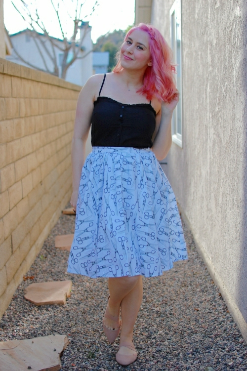 Modcloth Scissor Sisterhood Skirt