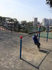 鉄棒とらちゃん 2014/3