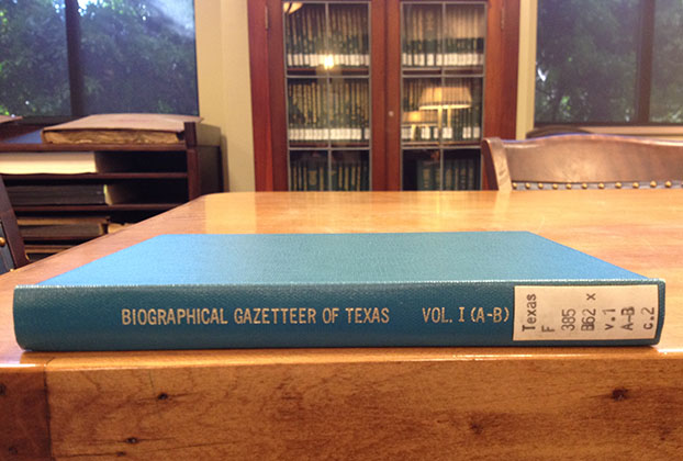 Biographical Gazetteer of Texas, Texas Collection reading room