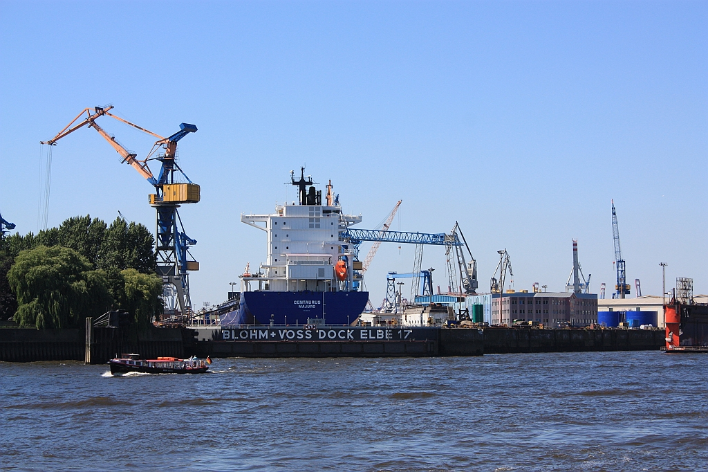 Port of Hamburg, Elbe river, HVV 62 ferry, Germany