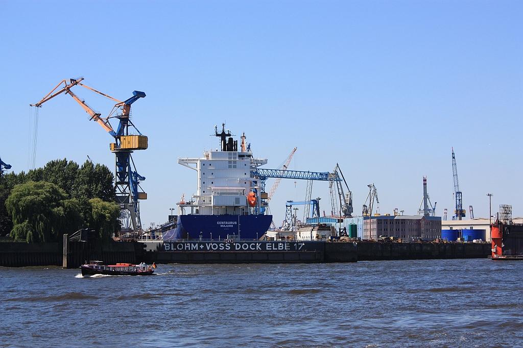 Port of Hamburg, Elbe river, HVV 62 ferry, Germany