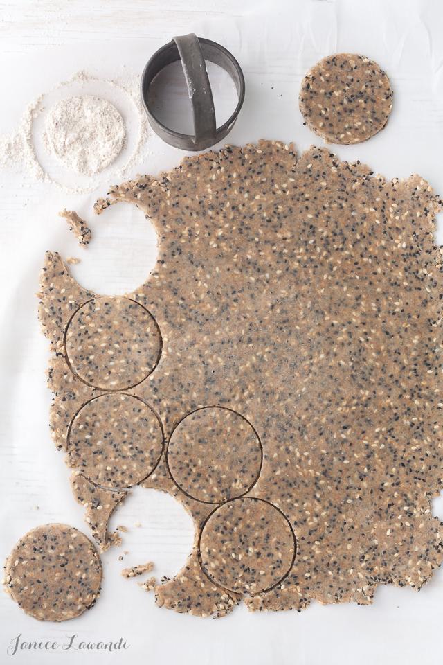 Savoury sesame cookies cutouts | Janice Lawandi @ kitchen heals soul