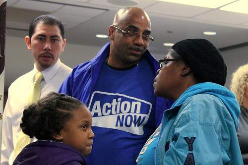 Faces of the resistance at the April 23 2014 Chicago School Board meeting