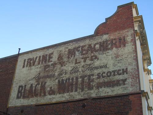 launceston tasmania australia sign irvinemceachernptyltd advertising blackwhitescotchwhisky ghostsign