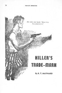 168c1 Private Detective Stories (Canada) Feb-1944 Page 70 Killer's Trade-Mark 01 by R. T. Maynard - Possibly E. Hoffmann Price Under a House Name
