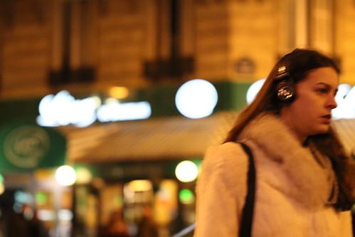 Woman on Street, Paris, February 2012
