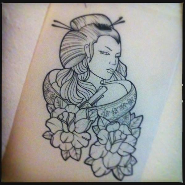 Tattoo Designs Uk Men: Geisha Tattoo Forearm