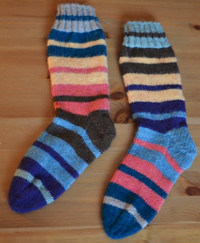 Scrappy worsted socks