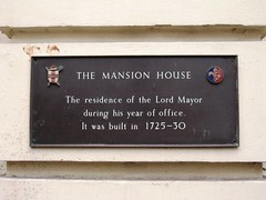Photo of Mansion House, York bronze plaque