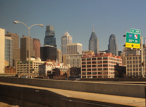Philadelphia from the Train