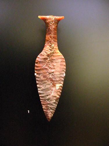 Dagger made of flintstone