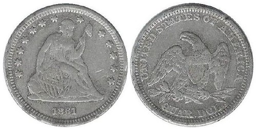 Counterfeit 1861 Quarter
