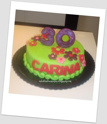 Bolo  30 anos Carina by Osbolosdasmanas