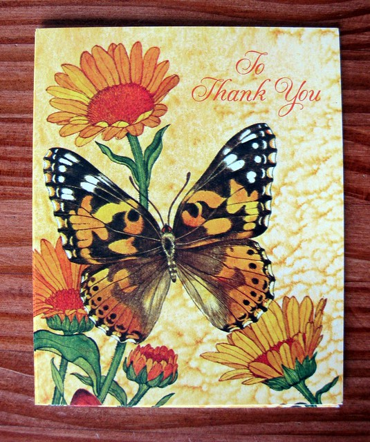 Vintage Current thank-you cards