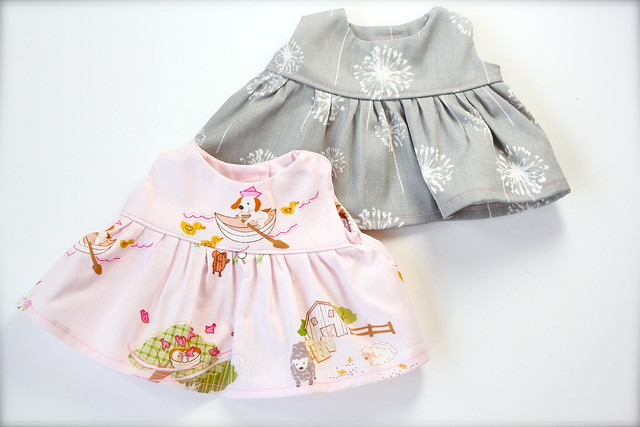 Semi-Custom Sundress and Cardigan Set for Puddlefoot Dolls
