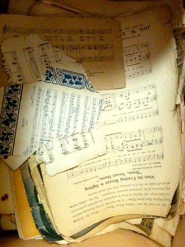 Tons of Vintage Sheet Music