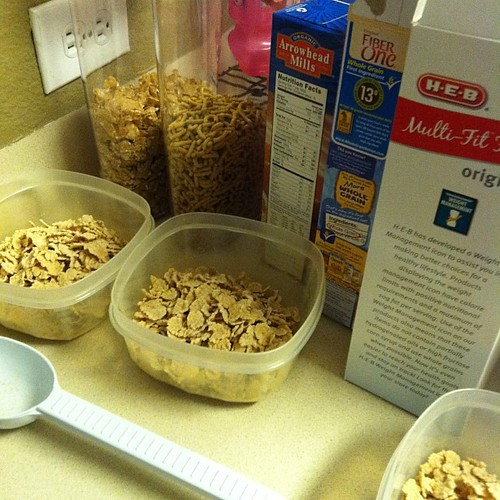 64:365 Sunday routine: prepping cereal bowls for the week.