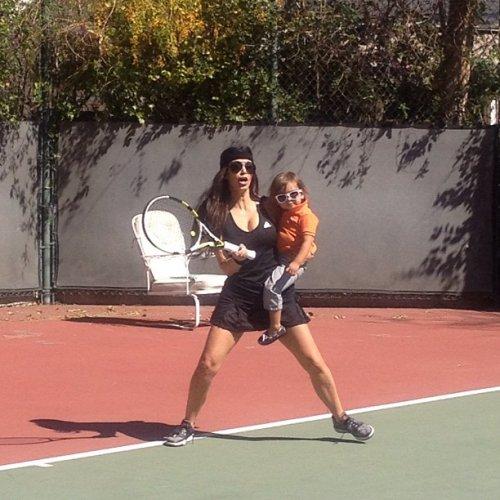 kimkardashianplaying tennis