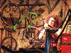 Elizabeth Barkan Fixing Bike