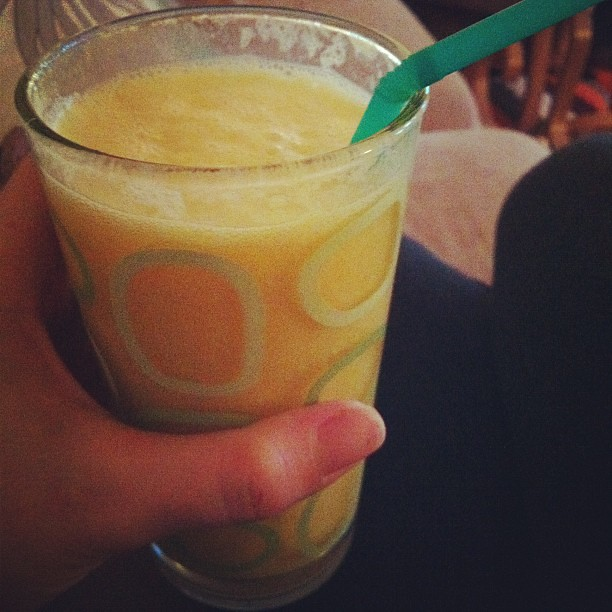 The yummiest smoothie I've ever made.