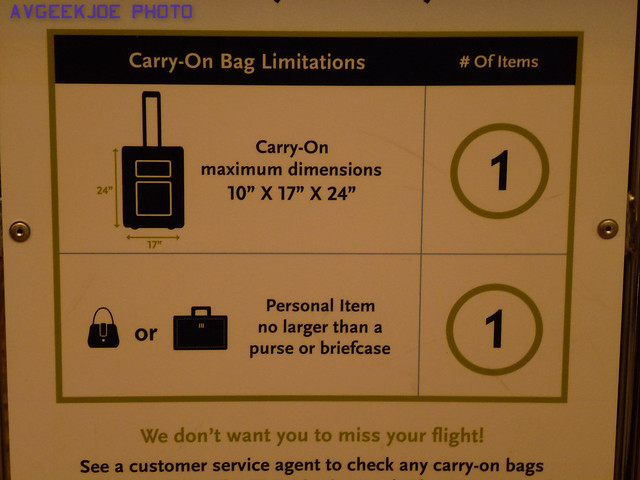 Plane Carry On Bag Size Limit