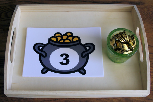 Counting Leprechaun Gold Tray