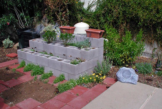 Raised Garden Bed Concrete Block Flickr Photo Sharing