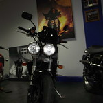 Staffordshire Triumph - this is the bike used in a mission impossible - with bullet holes film