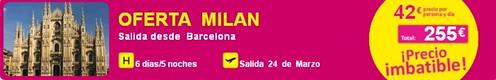 Oferta Milan Champions