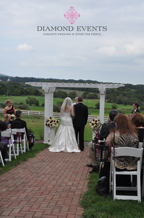 Wedding Ceremony at Raspberry Plain