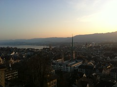 Great view from dinner at ETH Zurich