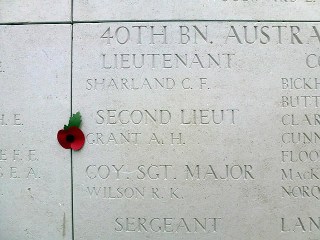 40TH BN. A.I.F., SECOND LIEUT GRANT