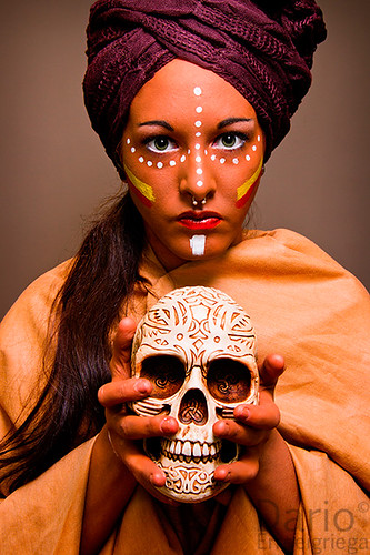 Maribel (maquillage de tribu africaine)