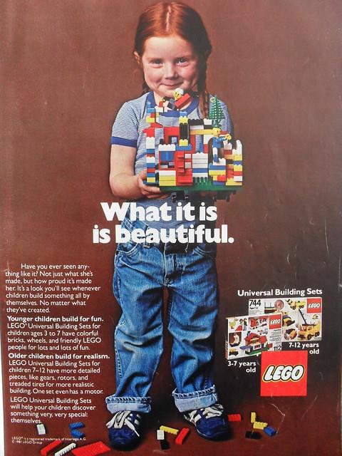 Retro Lego Ad - Red Head