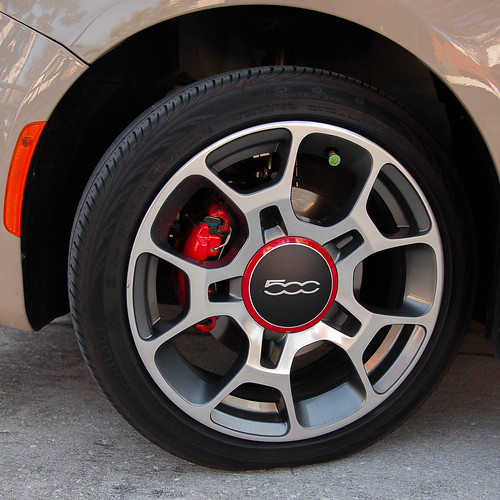 Fiat 500 Left Front Wheel Detail